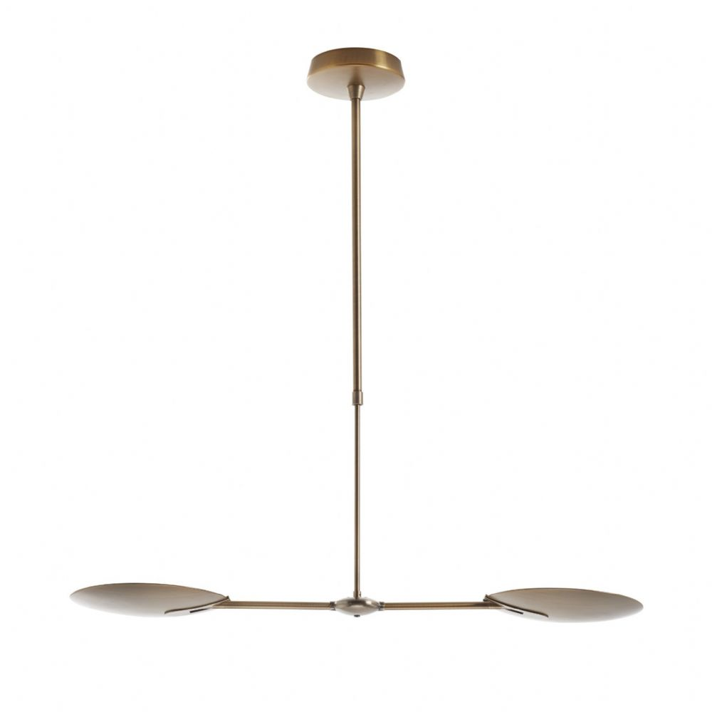 Oundle 2 Light Pendant Bronze Led
